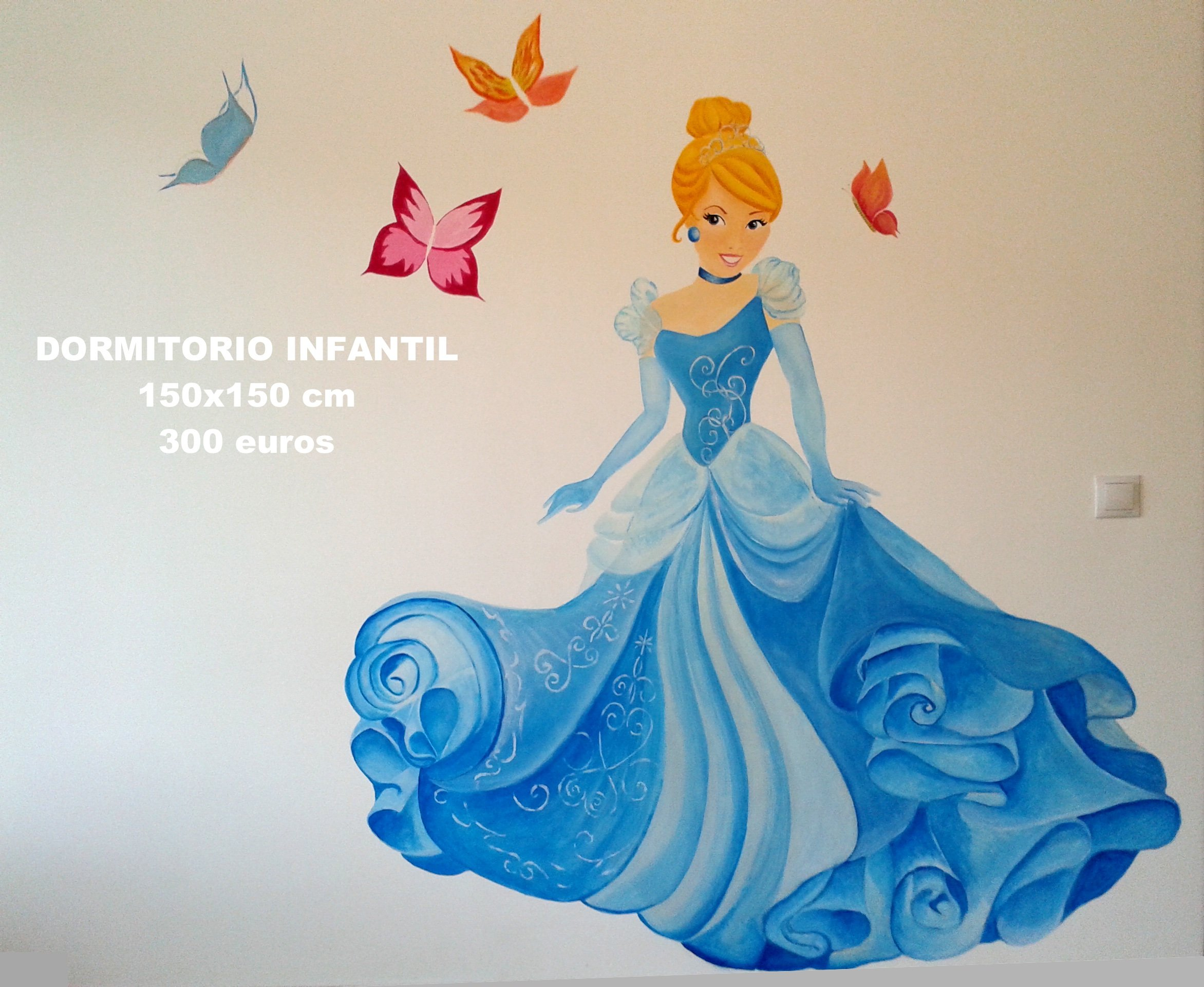 Pintura mural decorativa Dormitorio guardería